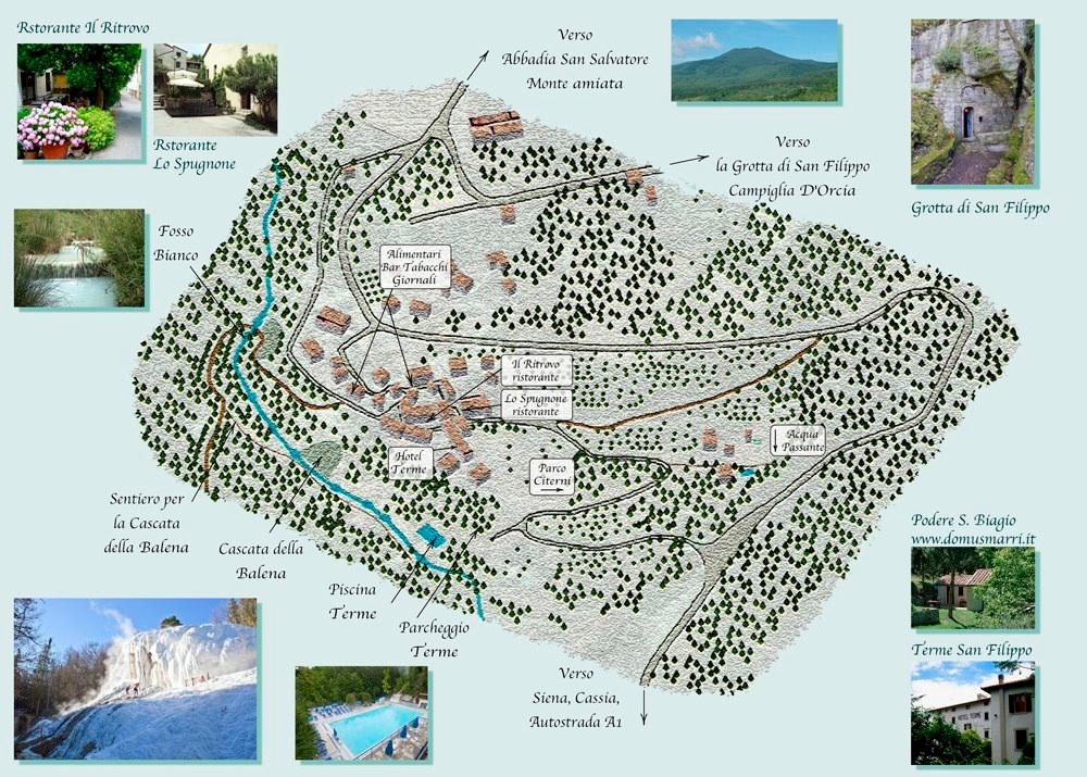 mappa di bagni san filippo